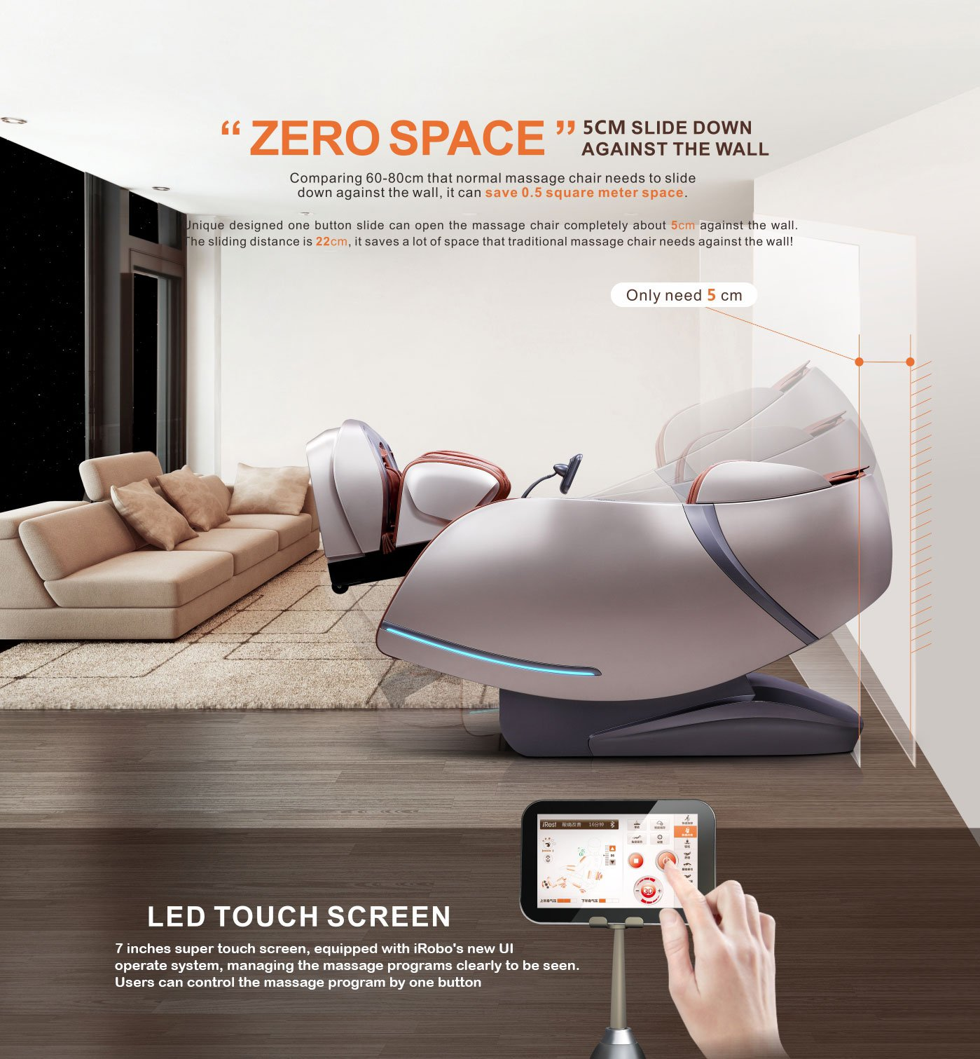 iRobo iUltima Body Massager with Zero Space Technology